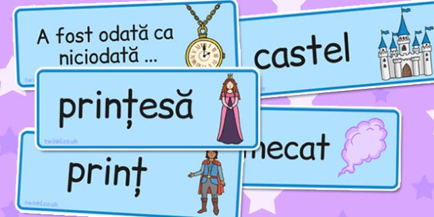 Basme și povești - Cartonașe cu imagini și cuvinte - basme, povești, cartonașe, imagini, cuvinte, camp semantic, joc de rol, vocabular, familii de cuvinte, romanian, materiale, materiale didactice, română, romana, material, material didactic