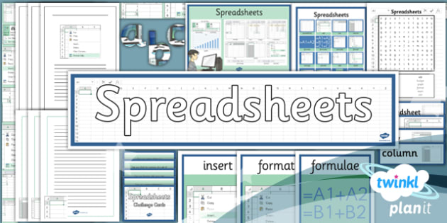 Computing: Excel Spreadsheets Year 6 Unit Additional Resources