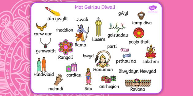 Mat Geiriau Diwali-Welsh
