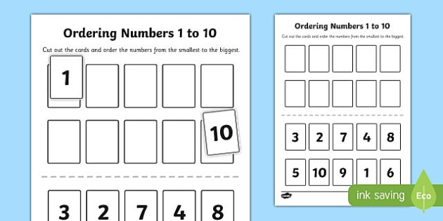 Ordering numbers 1 to 10 activity ibookread ePUb