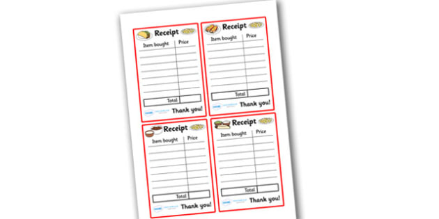 Mexican Restaurant Role Play Receipt - mexican, restaurant, mexican restaurant, role play, play receipt, receipt, receipt for role play, restaurant receipt