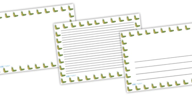 Caterpillar Full Page Borders (Landscape) - page borders, caterpillar page borders, caterpillar borders for page, minibeast page borders, landscape, A4
