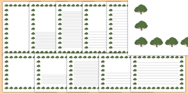 Yew Tree Themed Page Borders - yew tree, themed, page borders, pack, page, borders