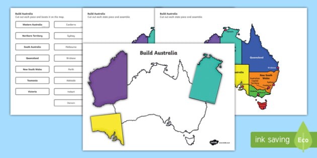 Map Of Australia Showing Capital Cities.Build Australia States And Capital Cities Map Jigsaw Puzzle