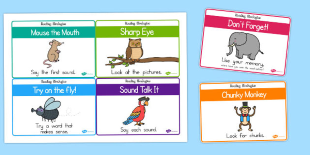 Guided Reading Strategy Cards - australia, guided, read, strategy