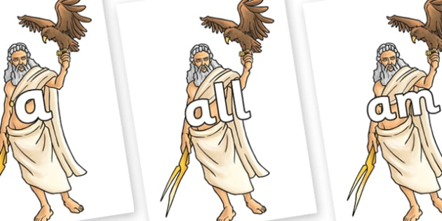 Foundation Stage 2 Keywords on Zeus - FS2, CLL, keywords, Communication language and literacy,  Display, Key words, high frequency words, foundation stage literacy, DfES Letters and Sounds, Letters and Sounds, spelling