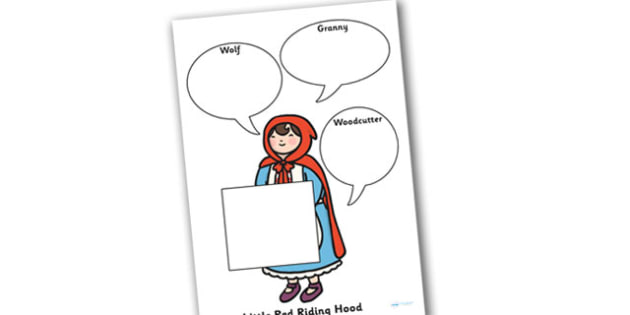 Little Red Riding Hood Role on the Wall Worksheets - little red riding hood, role on the wall, worksheets, little red riding hood worksheets, role play