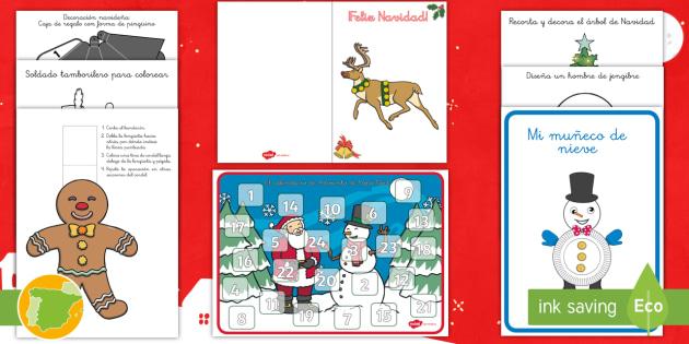 New Pack De Recursos Manualidades Navidenas Navidad - Manualidades-nias