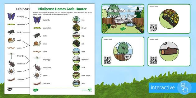 Minibeast homes code hunter qr codes minibeasts habitats for Code habitat