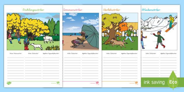 NEW * Jahreszeiten: Wörter suchen Arbeitsblatt - Frühling