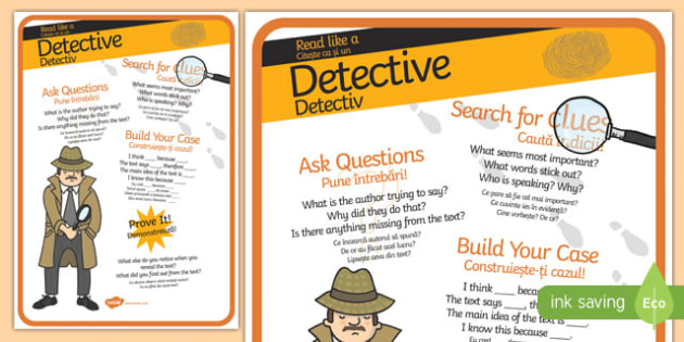 Be a Detective Reader Poster Romanian Translation-Romanian-translation