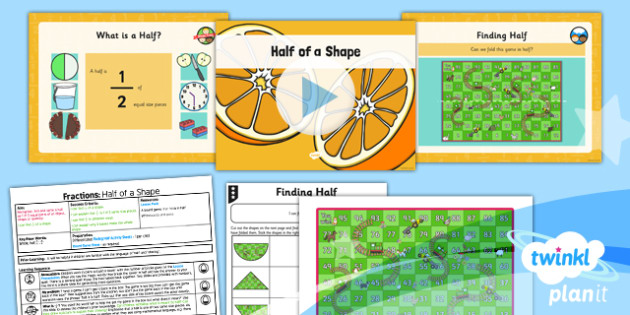 PlanIt Maths Y1 Fractions Lesson Pack Halves (1)