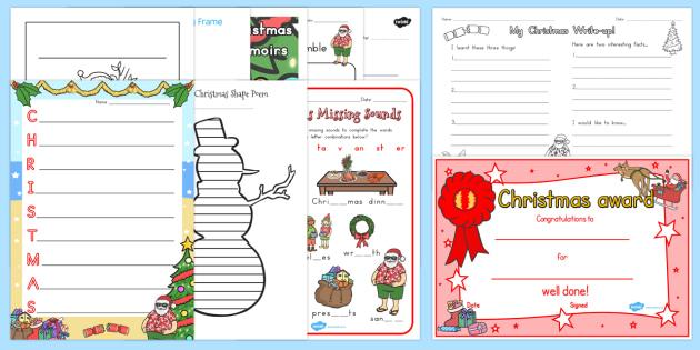 Christmas Writing Pack - australia, christmas, writing, pack