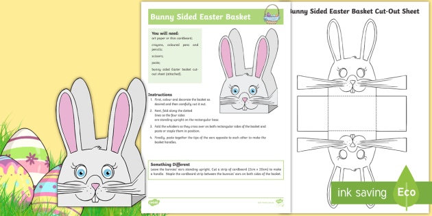 New bunny sided easter basket activity easter bunny new bunny sided easter basket activity easter bunny eggs basket negle Choice Image