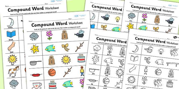 Compound Word Worksheet - compound, literacy, english, worksheet