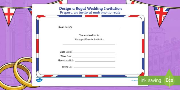 Royal wedding invitation writing template englishitalian royal wedding invitation writing template englishitalian prince harry meghan markle bride stopboris Gallery