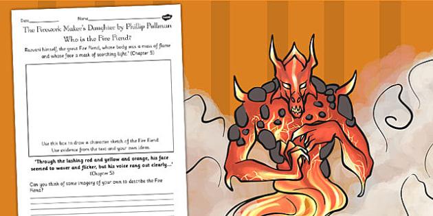 The Firework Maker's Daughter Fire Fiend Character Profile Sheet