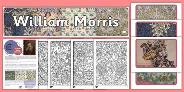 William Morris Artist Inspiration, artists, mindfulness, adult education, art, victorian, 19th century