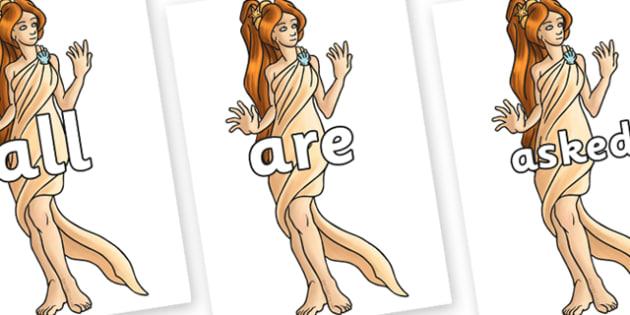 Tricky Words on Aphrodite - Tricky words, DfES Letters and Sounds, Letters and sounds, display, words