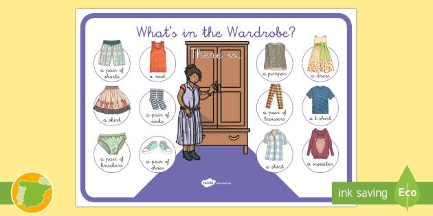 a1 p ster la ropa en ingl s clothes armario wardrobe