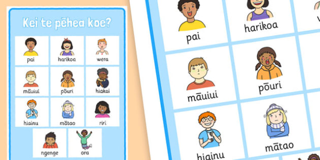 How Are You? Display Poster Te Reo Maori  - nz, new zealand, how are you, display poster, Te Reo Maori, display, banner