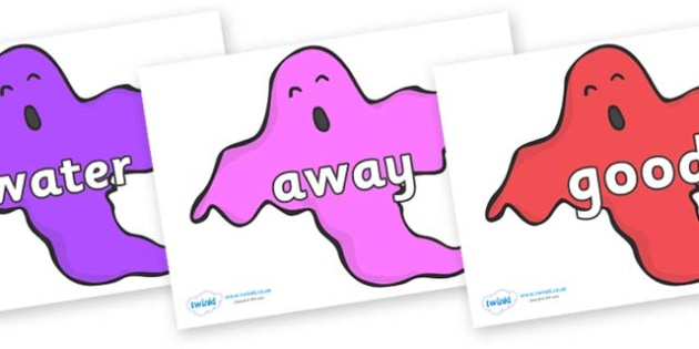 Next 200 Common Words on Ghosts (Multicolour) - Next 200 Common Words on  - DfES Letters and Sounds, Letters and Sounds, Letters and sounds words, Common words, 200 common words