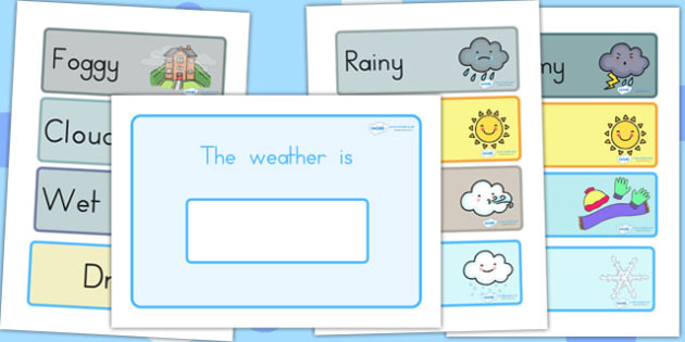Weather Display - weather, seasons, display, classroom display