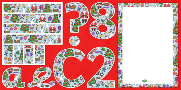 Christmas Themed Complete Editable Display Pack - christmas, editable, display pack
