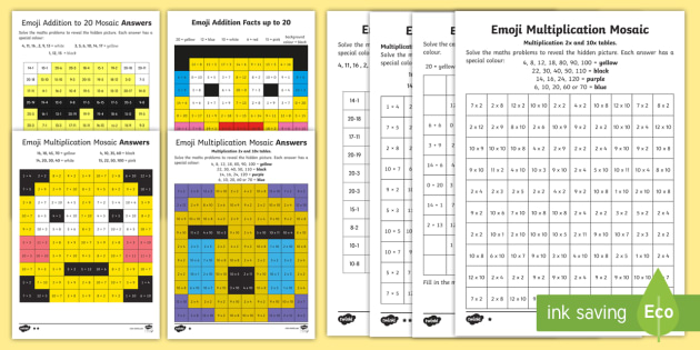 new emoji maths activity pack addition subtraction colour colouring. Black Bedroom Furniture Sets. Home Design Ideas