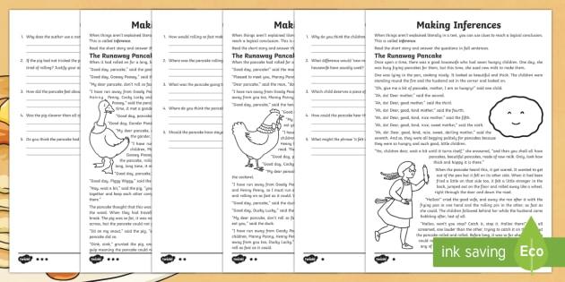 Ks2 Pancake Day Inference Worksheet Activity Sheet Ks2 Pancake