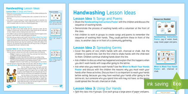 Hand Washing Lesson Ideas Global Africa Children