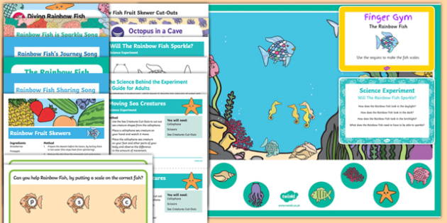 Childminder Resource Pack to Support Teaching on The Rainbow Fish
