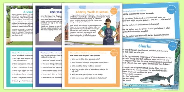 Reading Comprehension Skills Challenge Cards