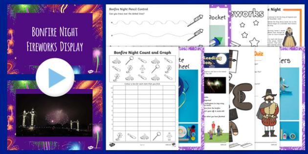 Home Educator Bonfire Night  Activity Pack