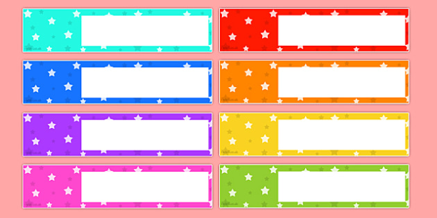 Star Themed Editable Gratnells Tray Labels Tray Label