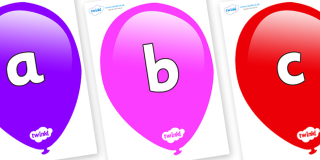 Phoneme Set on Balloons - Phoneme set, phonemes, phoneme, Letters and Sounds, DfES, display, Phase 1, Phase 2, Phase 3, Phase 5, Foundation, Literacy
