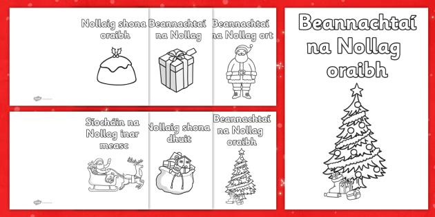 Christmas Card Templates Gaeilge  Nollaig Shona Beannachta