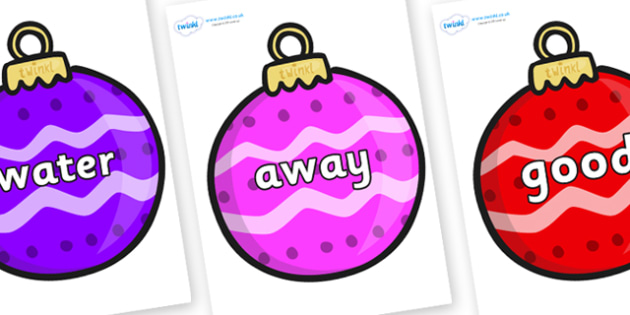 Next 200 Common Words on Patterned Baubles (Multicolour) - Next 200 Common Words on  - DfES Letters and Sounds, Letters and Sounds, Letters and sounds words, Common words, 200 common words