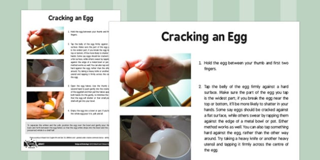 Global Food Adult Guidance Cracking an Egg - global food, adult guidance, egg