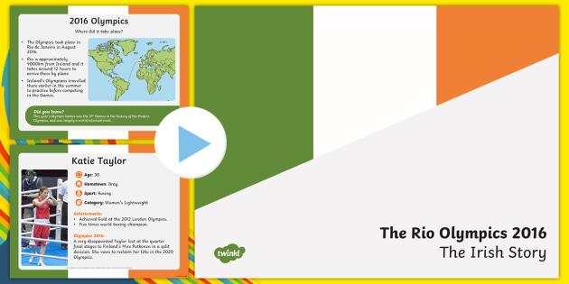 Team Ireland at Rio Olympics 2016 PowerPoint-Irish