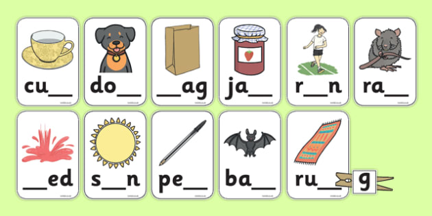 Missing Letter Matching Peg Activity - missing letter, matching, peg, activity, phonics, sounds