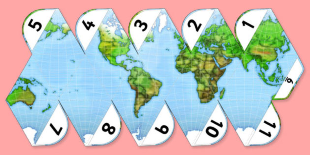 Printable World Globe Project