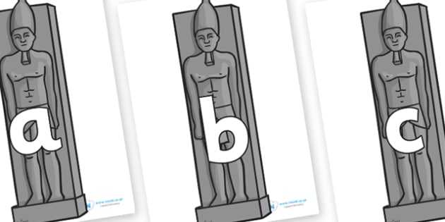 Phoneme Set on Egyptian Statues - Phoneme set, phonemes, phoneme, Letters and Sounds, DfES, display, Phase 1, Phase 2, Phase 3, Phase 5, Foundation, Literacy