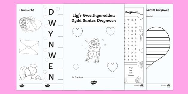 Llyfr Gweithgareddau Santes Dwynwen Llyfryn - Saint Dwynwen - 25th January - Welsh Medium and Welsh Language teaching, llyfr gweithgareddau, chwil