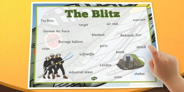 The Blitz Word Mat - the blitz, word mat, word, mat, ww2, germany