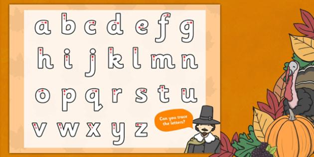 Thanksgiving Themed Letter Writing Worksheet - worksheets, write