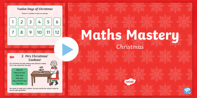 Year 2 Christmas Maths Mastery PowerPoint - Christmas Maths, Twelve Days of Christmas, reason, reasoning, deeper learning, deeper understanding,