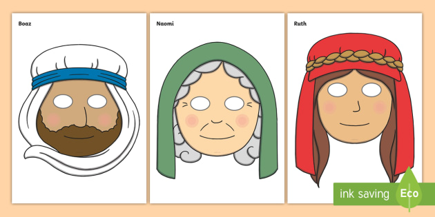 Ruth Naomi and Boaz Roleplay Masks - ruth naomi, boaz, roleplay