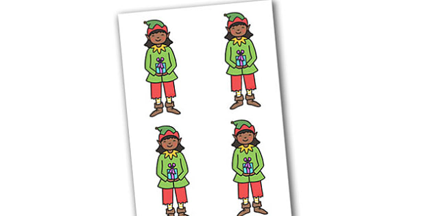 Christmas Girl Elf Small Editable  - christmas, elves, santa