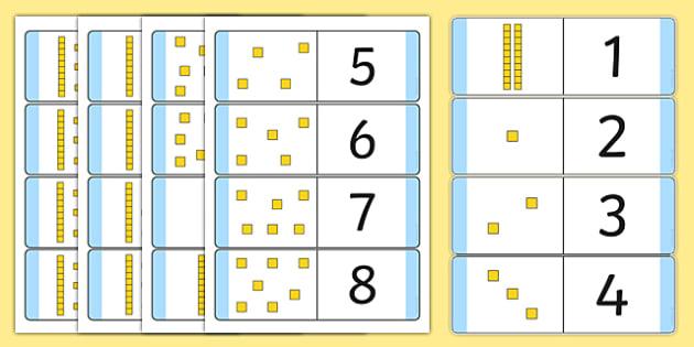 Numbers 1-20 Loop Cards with Dienes - numbers, 1-20, loop cards, dienes